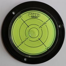 Flanged Circular Angle Large Spirit Bubble Level (Green Liquid) 80mm - $9.18