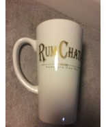 RUM CHATA  COFFEE MUG / CUP--HORCHATA CON RON--WHITE WITH GOLD---FREE SH... - $19.07