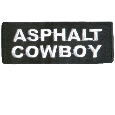 Embroidered Patch Asphalt Cowboy Patch