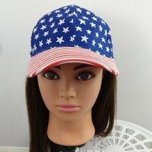 Stars And Stripes Youth Hat 4 To 6x American Flag red white and blue - $10.89