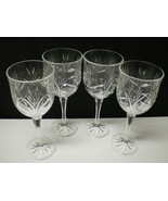 """Set of 4 Fifth Avenue Portico Crystal Wine Hock / Water Goblet~~8"""" - $29.95"""