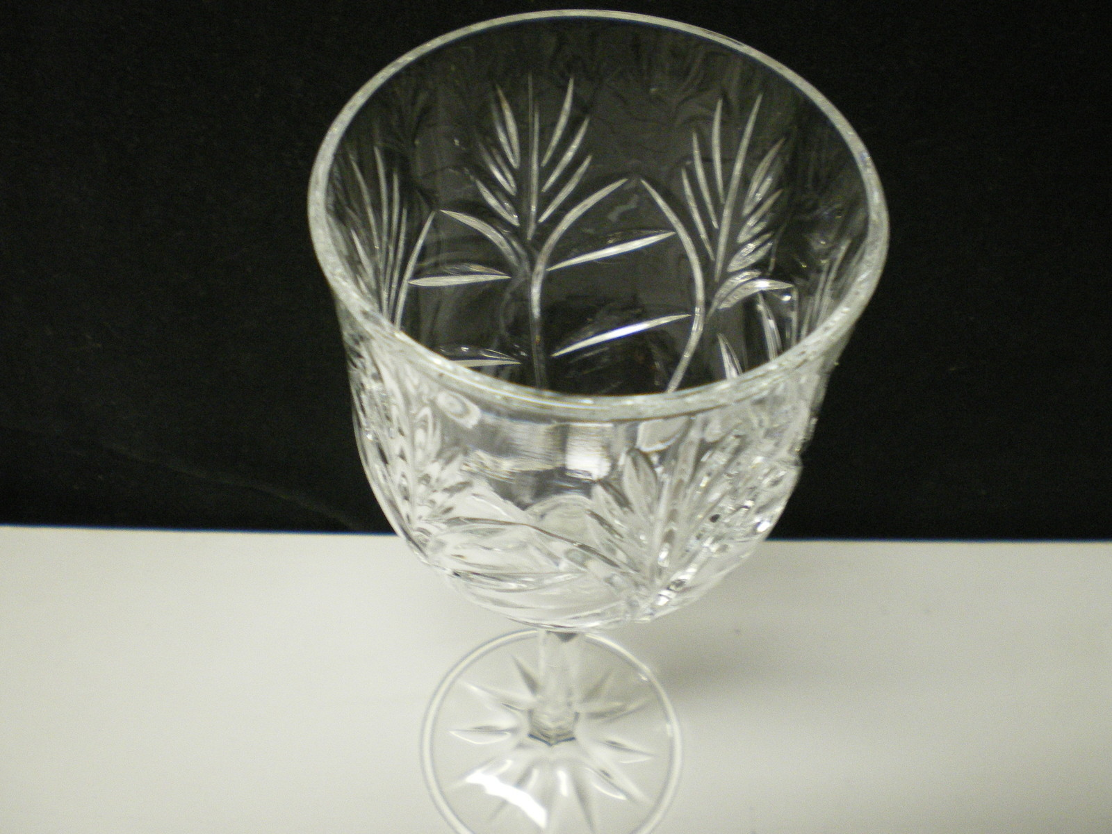 Set of 4 Fifth Avenue Portico Crystal Wine Hock / Water Goblet~~8""