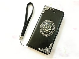 Flower leather wallet handmade phone case cover for Apple / Samsung / LG... - $25.00
