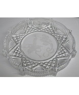 Waterford crystal Signed Christmas plate bells and candle etched - $26.77