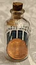 """1965 COPPER LINCOLN PENNY IN GLASS BOTTLE   """"WHO SAYS WE DONT GIVE OUT SAMPLES"""" image 3"""
