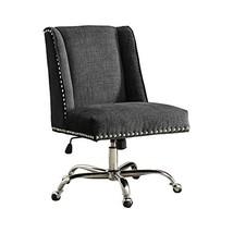 Linon Clayton Charcoal Office Chair, Metallic - $303.59