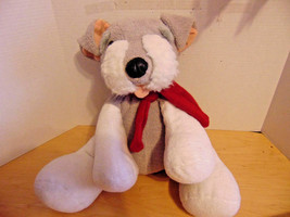 "Plush Vintage Christmas Canines Dog 2002 Commonwealth Toy Sits 14""-Red S... - $14.84"