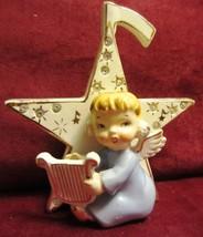 VINTAGE ANGEL  FIGURINE ON STAR - NAPCO ? - $47.45