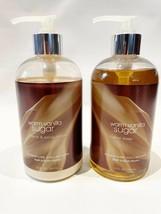 Bath Body Works Warm Vanilla Sugar Hand Soap + Lotion Set 12 Oz Each - $31.46