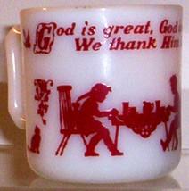 Hazel Atlas GLASS-- Kiddie Ware Religious Mug - $22.45