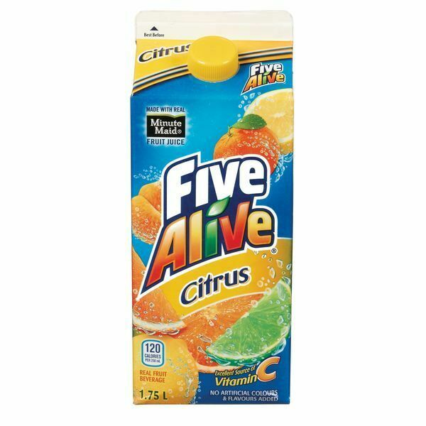 6x Five Alive Citrus Juice Drink 1.75 Litre Each -From Canada- FRESH & DELICIOUS - $79.96