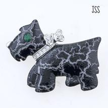 Jss black dog vintage brooch pin thumb200