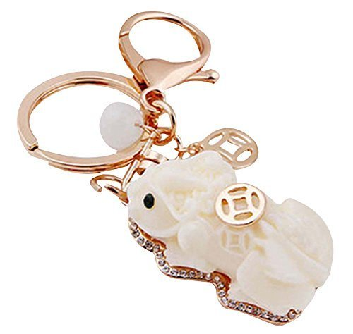 PANDA SUPERSTORE China Wind Key Chain Lovely Resin Car Key Chain Pendant Car Acc