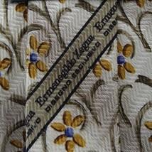 Beige Floral ZEGNA Silk Tie - $18.03