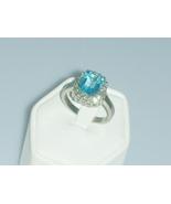 Aquamarine Crystal Square Cut Ring - €21,79 EUR