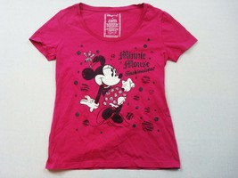 Disney T Shirt Femmes M Rose Minnie Mouse Fashionista - $21.66