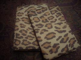 2 Standard Pillowcases Set Two Ralph Lauren Venetian Court Leopard Bohemian 450t - $88.98