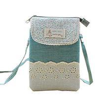 Fashion Cell Phone Cross Body Bag Utility Zipper Coin Bag Messenger Bag, Green