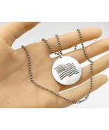 925 Silver - Vintage September 11, 2001 American Flag Pendant & Chain - ... - $55.08
