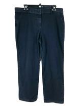 Isaac Mizrahi Live Womens Blue Dark Wash Denim Skinny Jeans Size 16 Peti... - $23.76