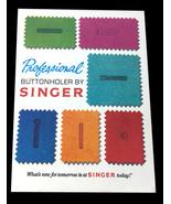 Vintage 1970's Singer Professional Buttonholer – V102878 Made Great Britain - $19.75