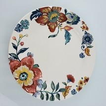 Pier 1 Eden Floral (1) DINNER PLATE Brightly Colored Flowers Blue Red Yellow - $24.25