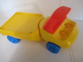 Little Tikes Chunky Yellow Truck Trailer 1980's - $10.88