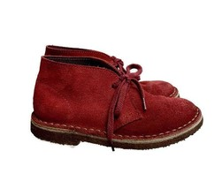 J Crew Crewcuts Boy's Kid's Suede Macalister Lace Up Crepe Sole Boots 12 79394 - $27.59