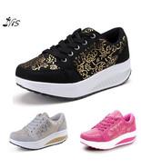 "Nis Women""s Chunky Platform Sneakers Walking Sport Shoes Trainers Wedge ... - $33.20"