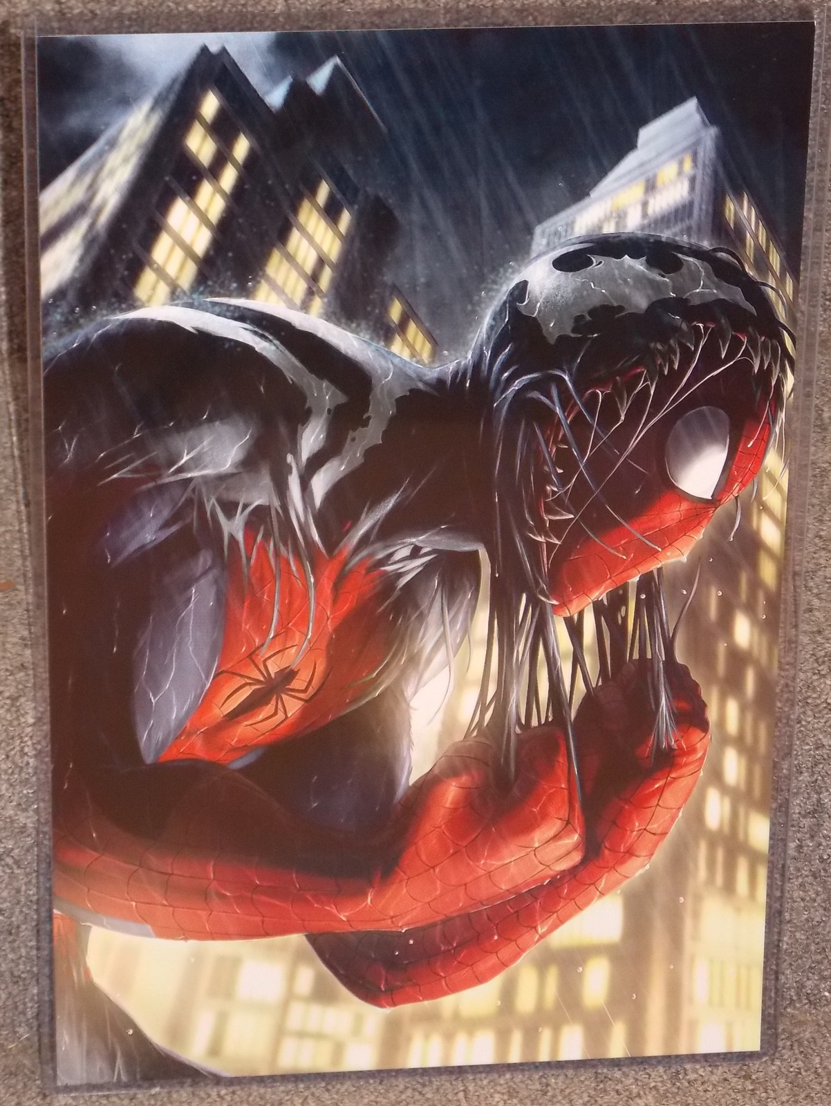 Primary image for Marvel Spider-Man Glossy Print 11 x 17 In Hard Plastic Sleeve