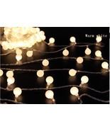 White Globe Ball String Lights Solar Powered Led Lights Outdoor Decorati... - $25.99
