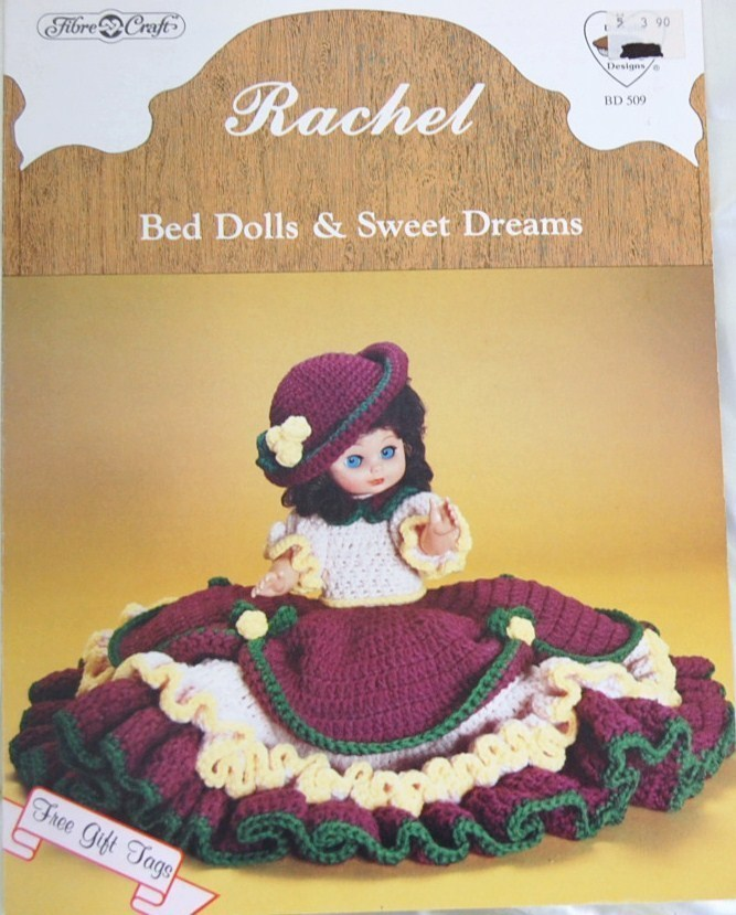 Fibre craft 39 s rachel bed dolls sweet dreams crochet for Fibre craft 18 inch doll