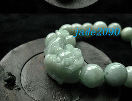 Free Shipping - good luck Amulet natural green jade '' PI YAO'' Prayer Beads cha image 2
