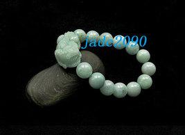 Free Shipping - good luck Amulet natural green jade '' PI YAO'' Prayer Beads cha image 3