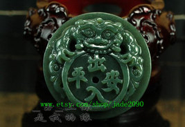 Free Shipping - good luck handmade good luck Real Natural Green jade carved Pi Y - $32.99