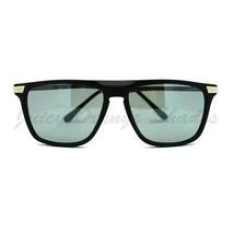 Flat Top Thin Square Frame Sunglasses Unisex Casual Fashion - $8.95