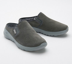 Skechers GOWalk Joy Women's Water-Repellent Suede Clogs - Snuggly Charcoal 8.5 W - $34.64