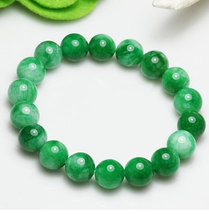 Free Shipping - Grade AAA Natural Green Jadeite Jade beads charm beaded ... - $23.99