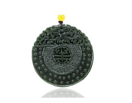Free Shipping - good luck Natural green jadeite jade buddha Gossip pi yao charm  - $25.99