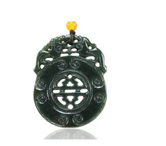 Free Shipping - good luck Natural green jadeite jade Gossip pi yao charm fashion - $25.99