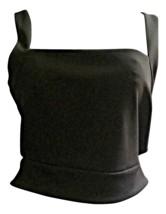 Express Women Top Tank Blouse Size Large Black Sleeveless Cropped Cut Ou... - $20.02