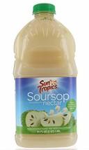Sun Tropics Soursop Guanabana Nectar tropical fruit 64 FL / 1.89 Liter Made with