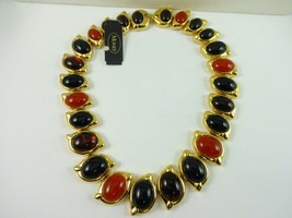 "Beautiful MONET Graduated Bead Gold Tone Heavy Necklace 17.25""     195.7 Gram - $79.19"