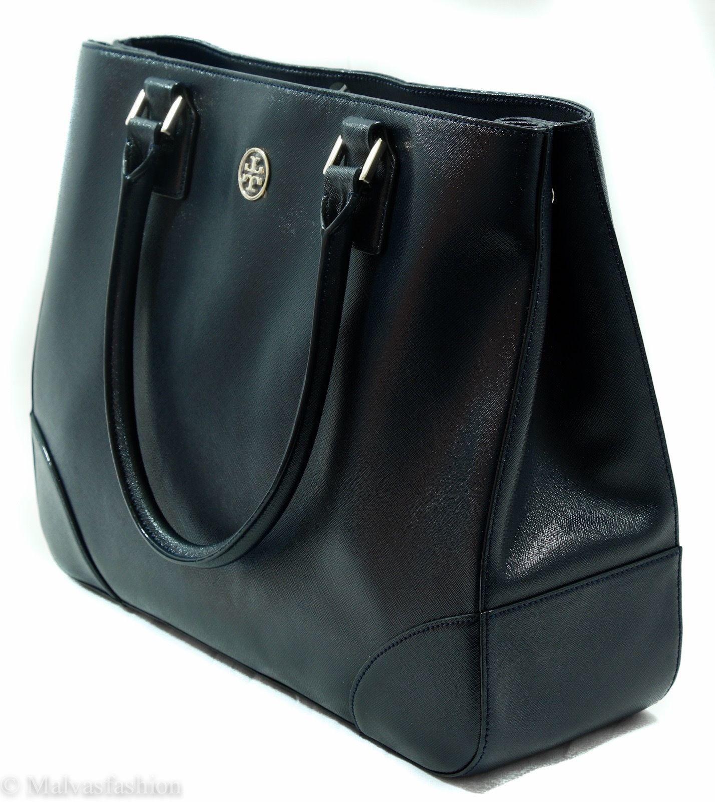 NWTTory Burch Robinson East/West Tote Handbag Bag, Blue image 4