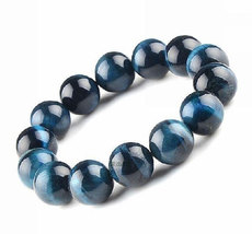 Free Shipping - 10 mm Real Natural blue tiger eye STONE Prayer Beads charm beade - $19.99