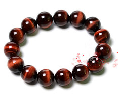 Free Shipping -  10 mm beaded bracelet Natural Red tiger eye STONE Praye... - $19.99