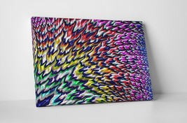 """Peacock Feathers Abstract Art Gallery Wrapped Canvas Print 30""""x20"""" or 20""""x16"""" - $42.52+"""