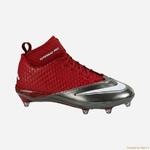 Nike Men's Lunar Super Bad Pro D Pf Football Cleats Size 13.5 New Free Socks - $13.97