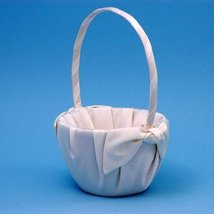 Love Knot Wedding Accessories Flower Girl Basket, Ivory - $24.18