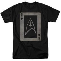 Star Trek Star fleet emblem playing card t-shirt retro TV graphic tee CBS1420 image 1